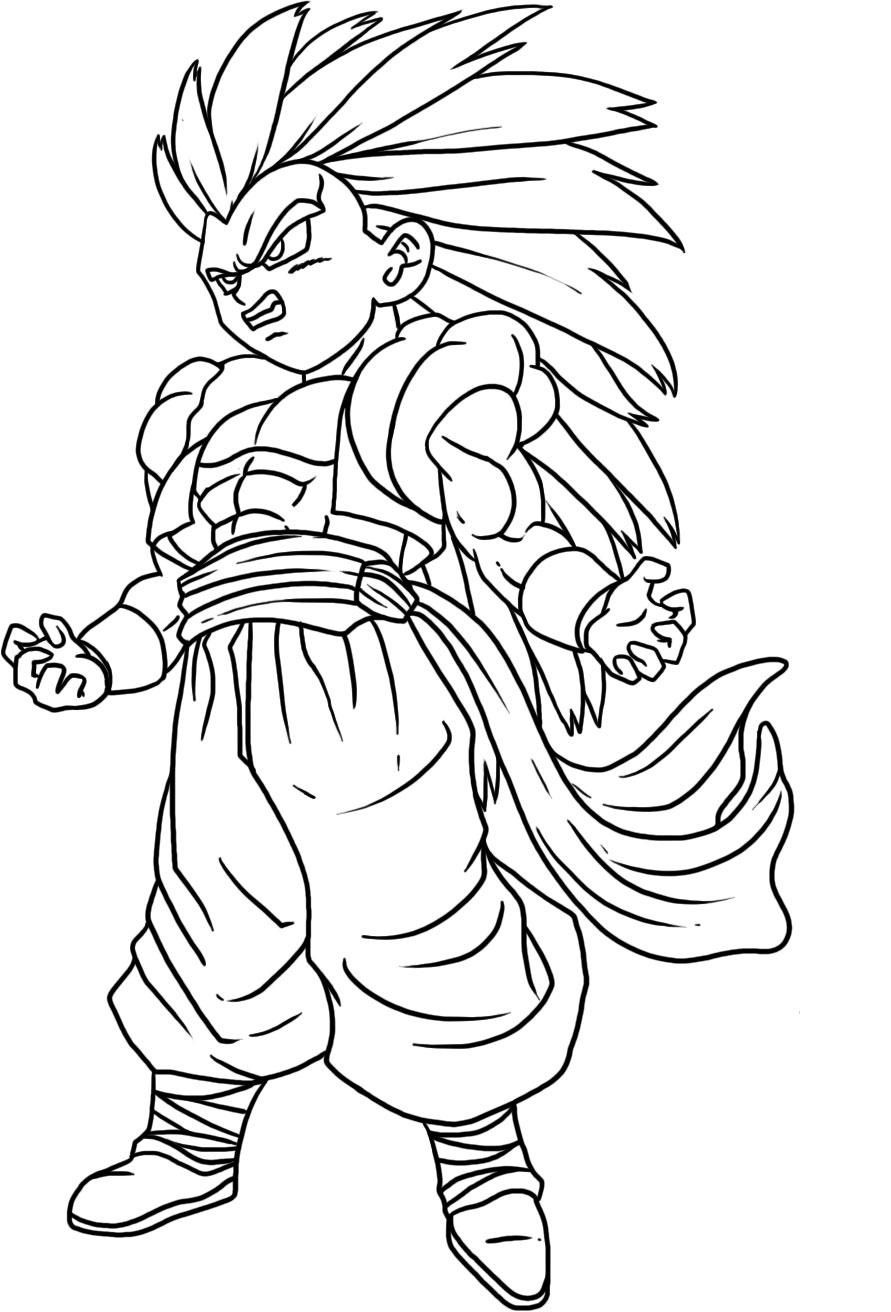 dragon ball z trunks and goten join dragon ball z coloring pages