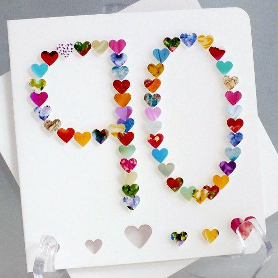 Card Making Ideas 90th Birthday Part - 22: Handmade 3D U002790u0027 Card - 90th Birthday Card, Personalised, Ninety, Ninetieth