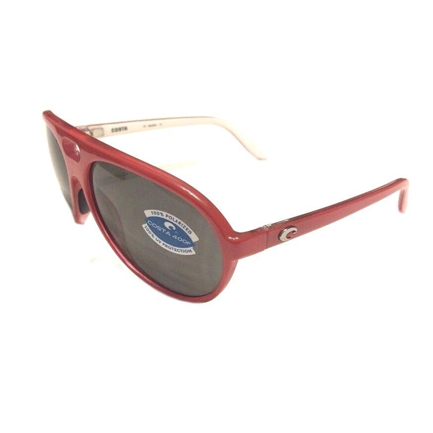 87089d8b3776f Costa Del Mar Grand Catalina Sunglasses – Red White – Gray 400P POLARIZED