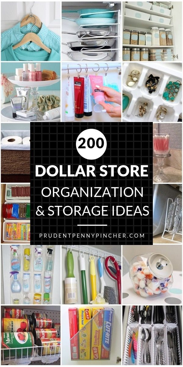200 DIY Dollar Store Organization and Storage Ideas -   22 diy closet office