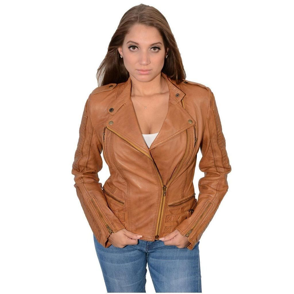 Milwaukee Leather Sfl2820 Whiskey Women S Quilted Lambskin Leather Jacket Lambskin Leather Jacket Leather Jacket Leather Jackets Women [ 1024 x 1024 Pixel ]