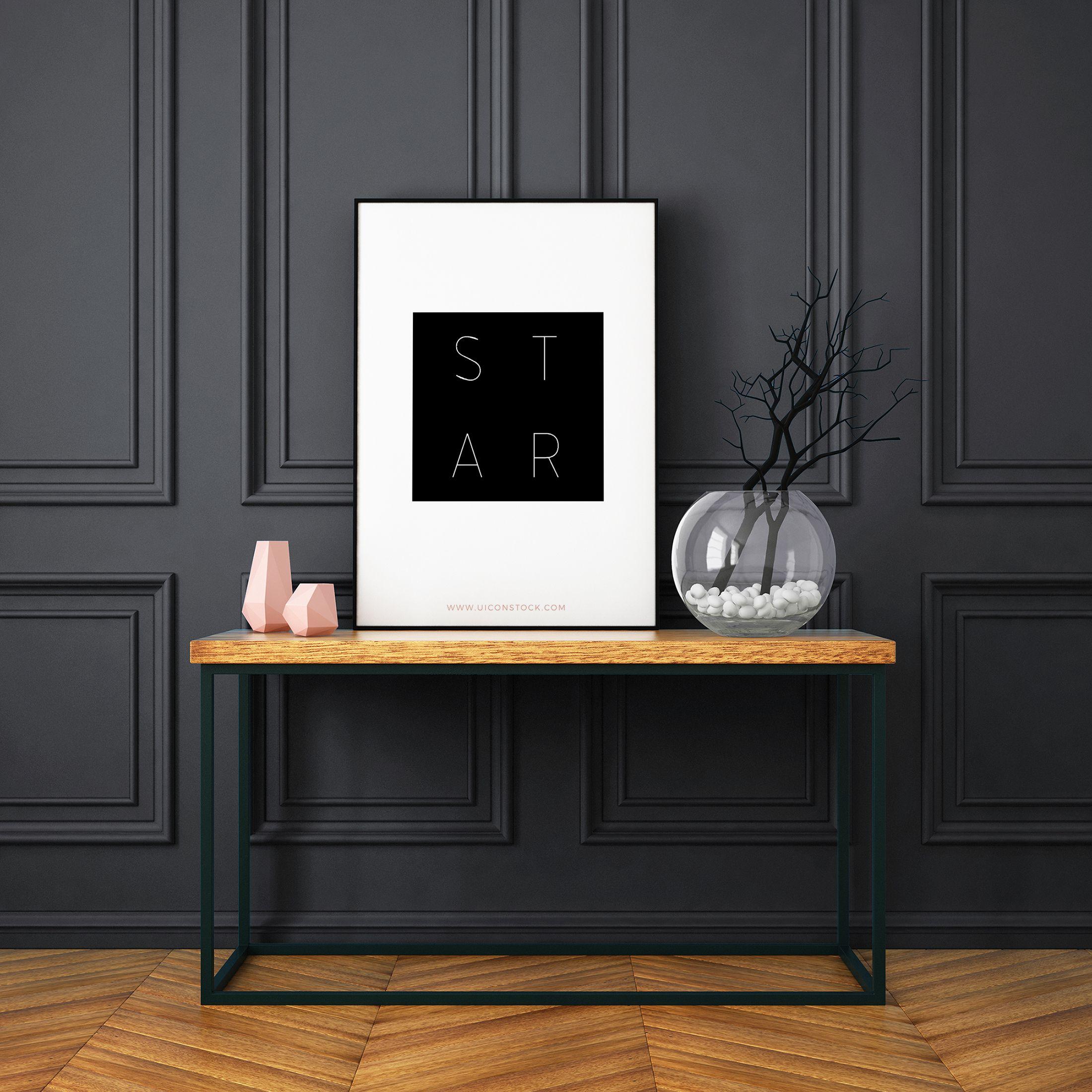 Printable Wall Art Star Home Decor Dorm Decor Printable