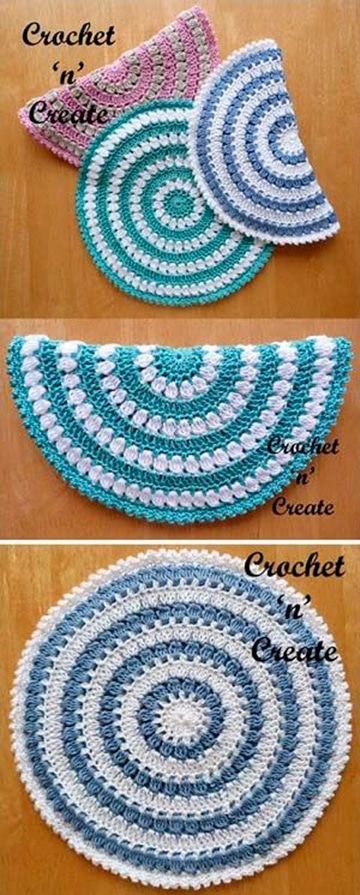 carpetas en crochet para principiantes faciles | Ganchillo ...