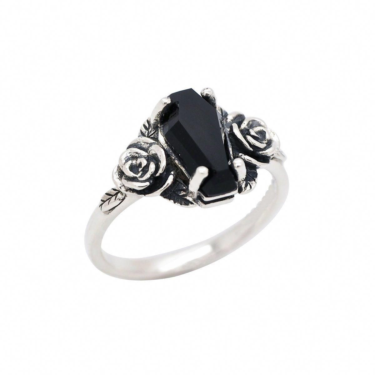 December Birthstone Ring-Unique Christmas Gift Ring Beautiful Natural Black Onyx Ring-Solid 925 Sterling Silver Black Ring-Handmade Jewelry