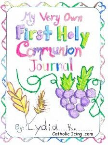 First Holy Communion Journal Printable Cover Teach This