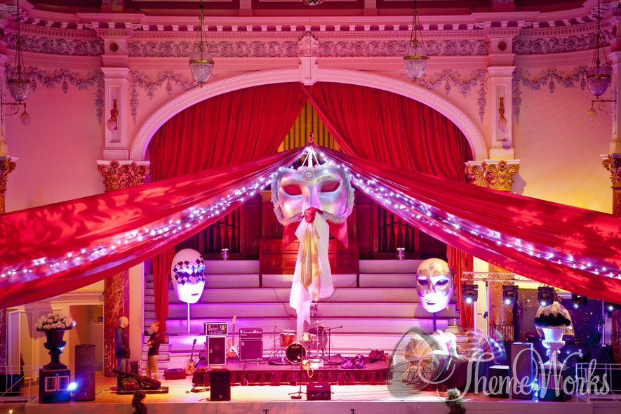 Venetian Masquerade Theme Decorations And Props Call 07788732552 For More Info