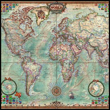 4000 piece puzzle world map by educa