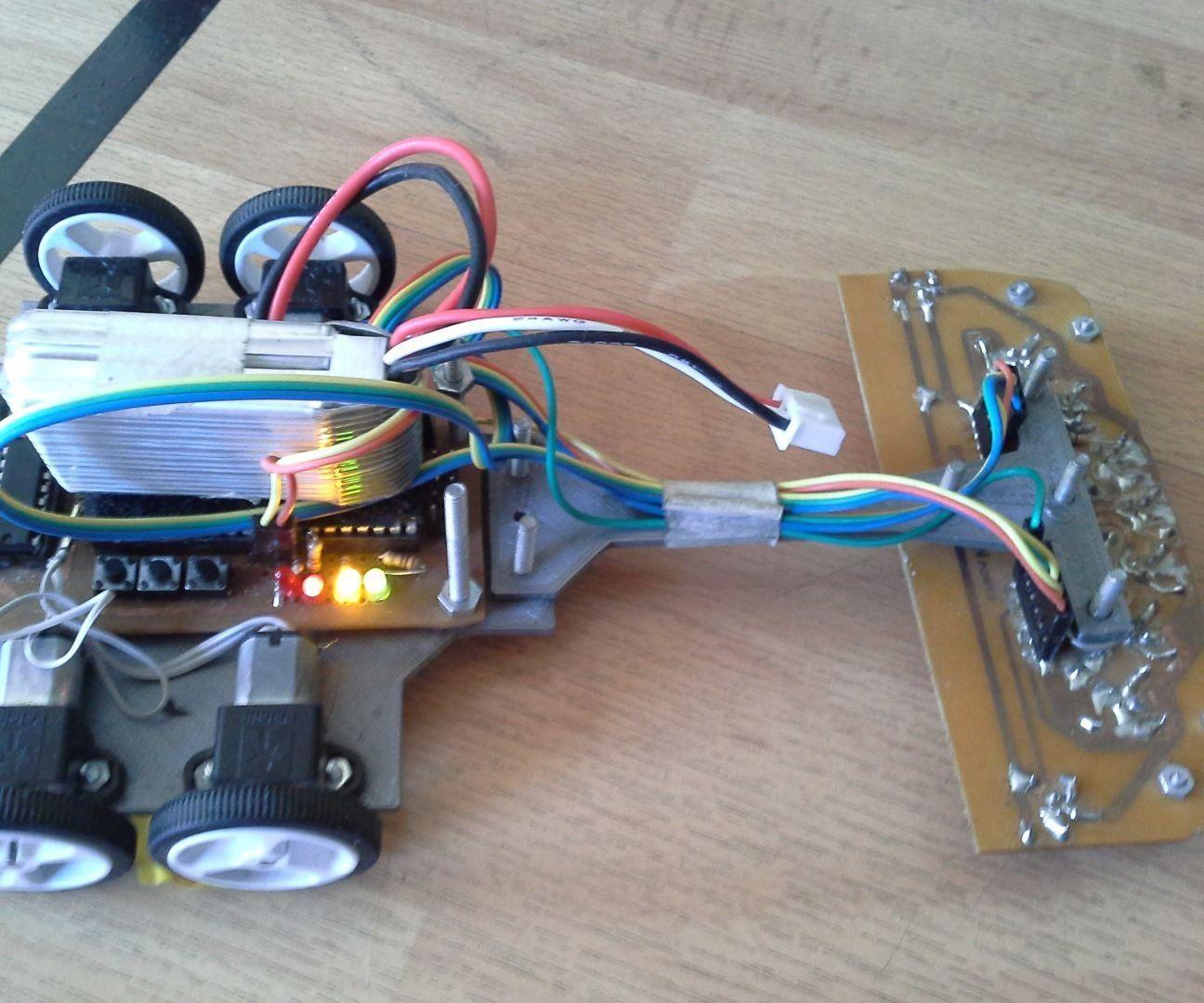 High Performance Line Follower Robot Electronics