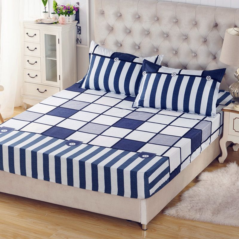 Bedspread Bed Sheet Bedding Cover Fitted Sheet Elastic Twin Full Queen US Size