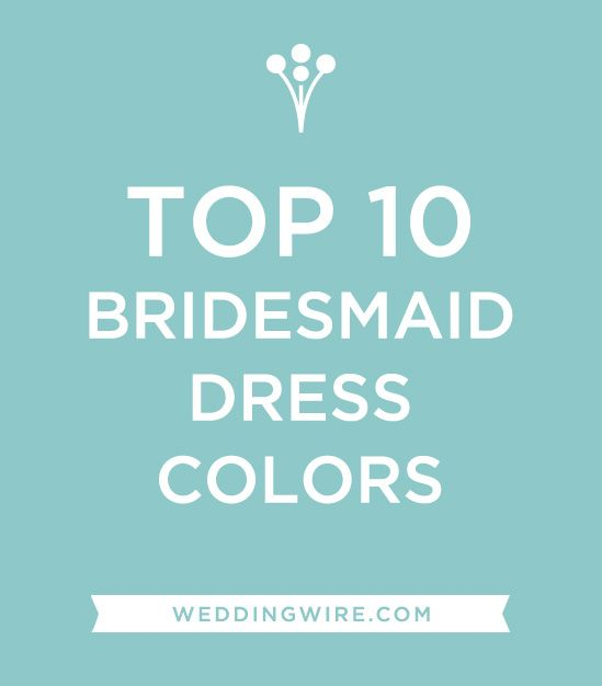 What color will your #bridesmaids wear? Read more: www.weddingwire ...