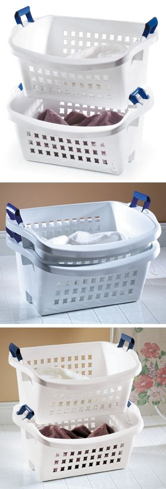 Stack N Sort Laundry Hamper Basket Such A Clever Idea