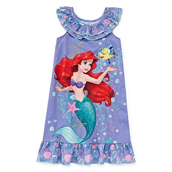 bab4ac5ba0ef8 Disney Collection Ariel Nightshirt - Girls 2-10 - JCPenney | Ariel ...