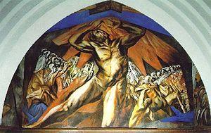 Prometeo del Pomona College de José Clemente Orozco.