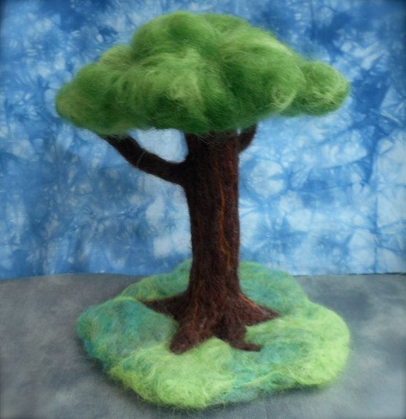 Miniature Needle Felt Tree Waldorf by SofterSideOfLearning