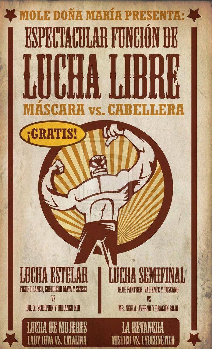LUCHA LIBRE poster by ~rodolforever on deviantART