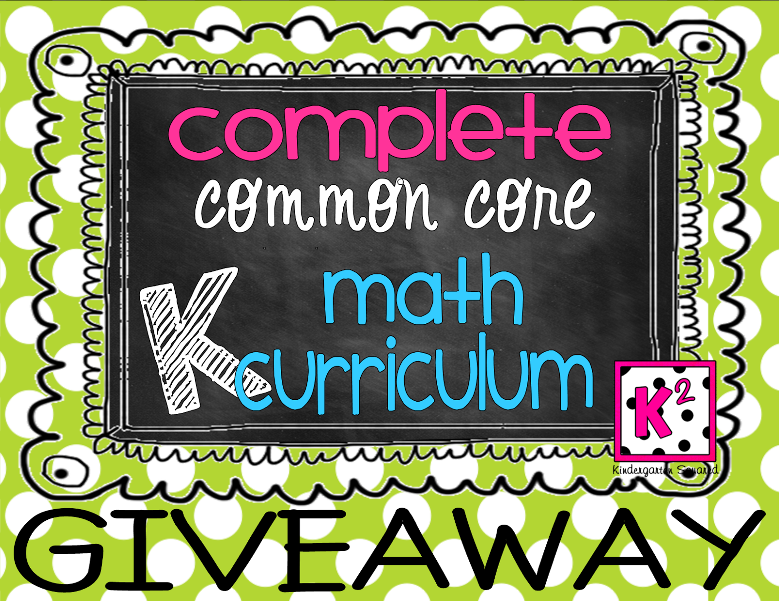 Giveaway Complete Common Core K Math Curriculm