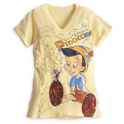 Pinocchio Tee for Women | Tees, Tops & Shirts | Disney Store 22.12
