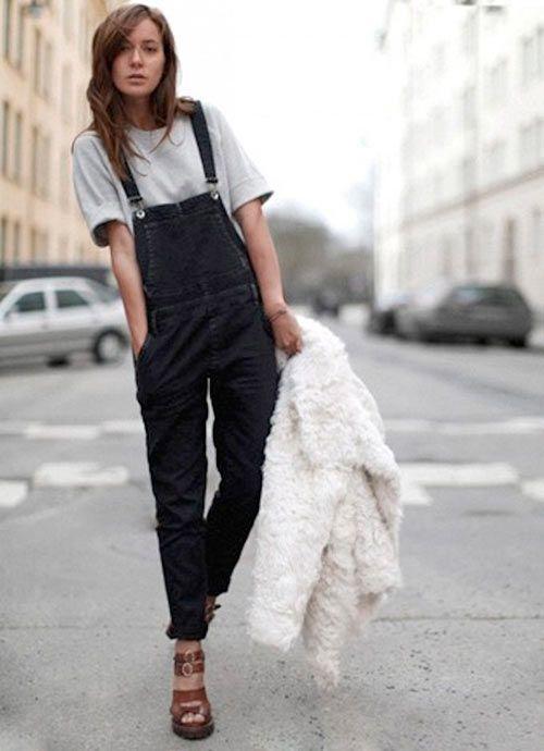 68ad5ac0b381 Stylish Ways to Wear Black Overalls   Fashion Style   Pinterest ...