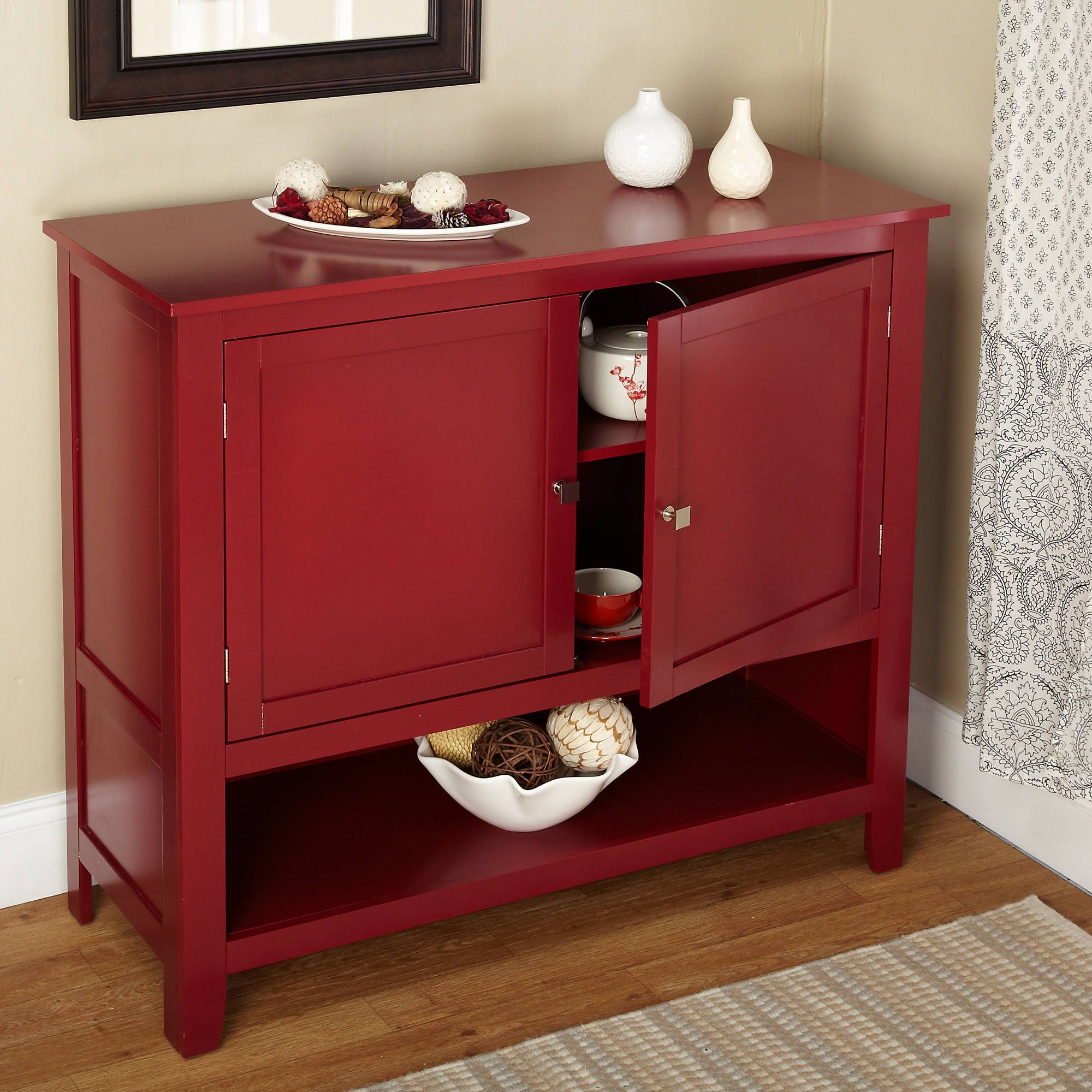 Picture Of Small Red Montego Kitchen Buffet