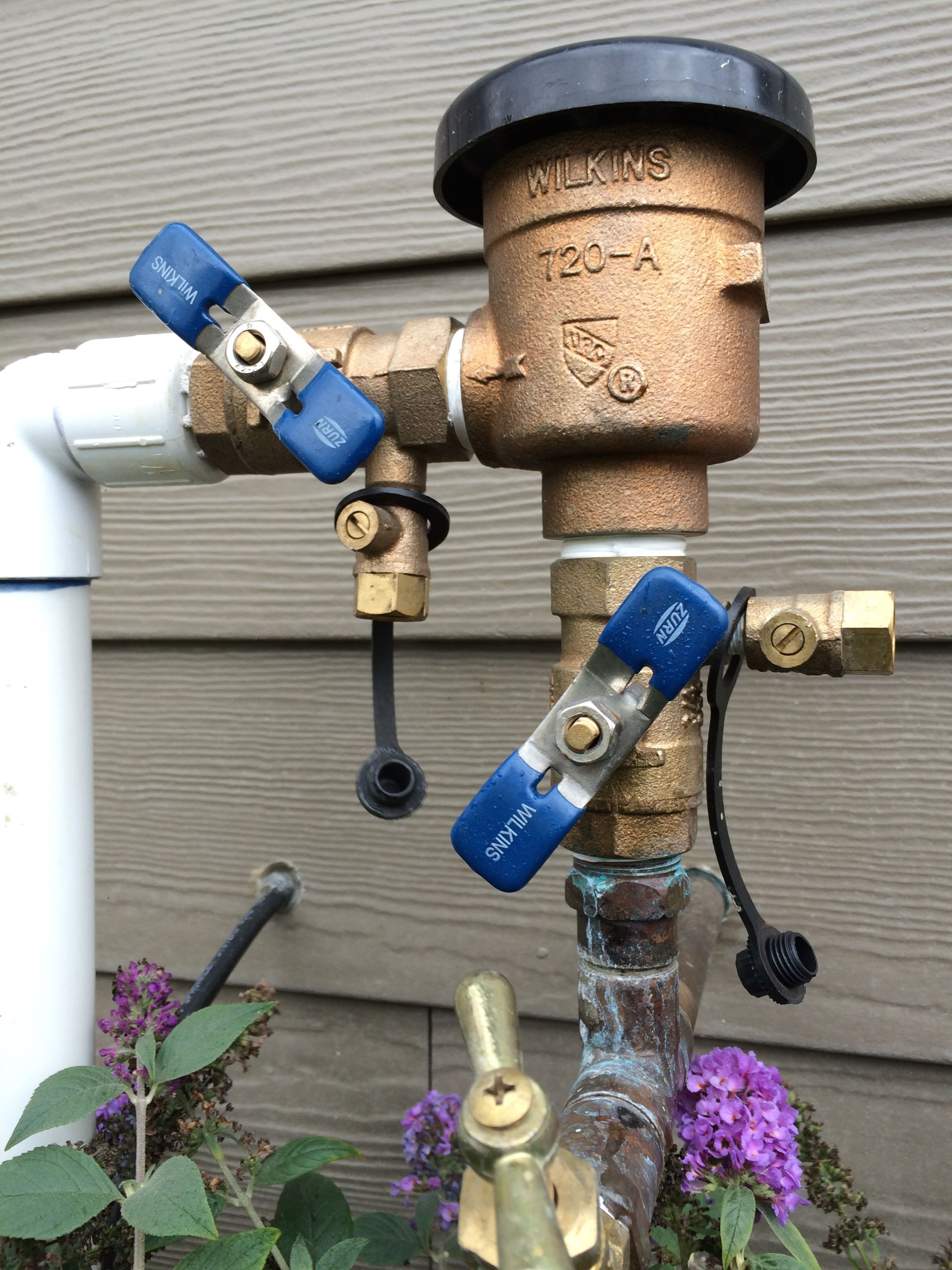 Notice The Position Of The Shut Off Valves On The Check Valve While Winterizing Sprinkler Irrigation System Sprinkler System