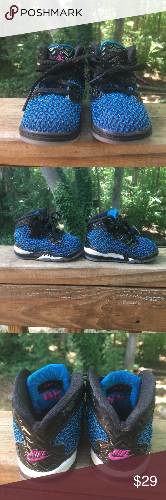 size 40 dec03 8b0e3 Toddler size 4 air Jordan spike 40 sneakers. Blue, purple and black. Gently  used. Bundle and save! Nike Shoes Sneakers