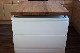 Elegant Kücheninsel| Selbst Gebaut, Mit Richtigen Schubladen. Bauplan :  Https://misszuckerfeeblog
