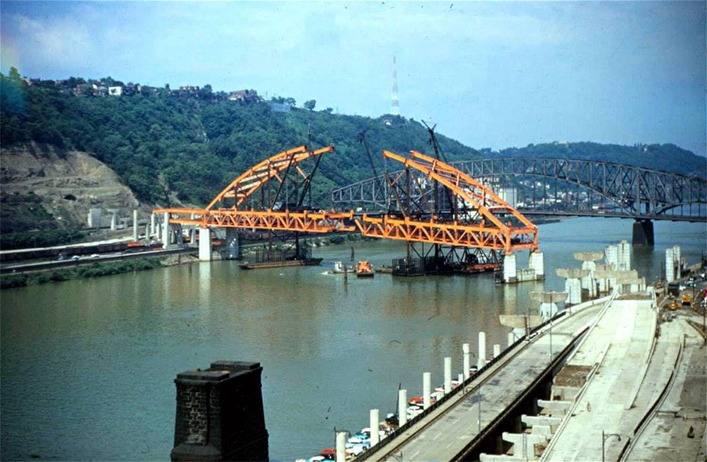 Fort Pitt Bridge Under Construction In 1959 Under Construction Sydney Harbour Bridge Fort