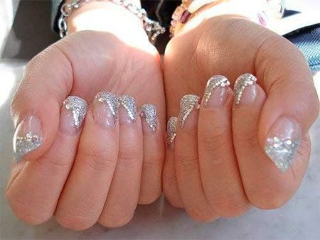 Rhinesone Wedding Nails Design 2014