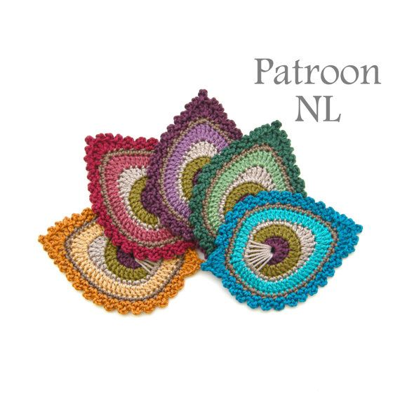Haakpatroon Pauwenveer Java Peacock Feather Motif Mooie