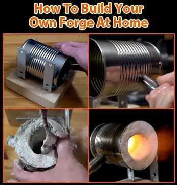 #BuildYourOwnAtHome Forge glass or metal in emergency/survival situations? Its cool to forge you own knives/tools from scratch? Want to impress your lady that you not only know how to forge metal; but know how to build your own forge from scratch? Making or shaping metal objects by heating it in fire and then beating and hammering is the true essence of what it means to be a man. Step-by-step video & image instructions…