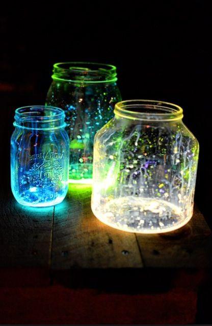 Cool Craft Made From Broken Glow Sticks