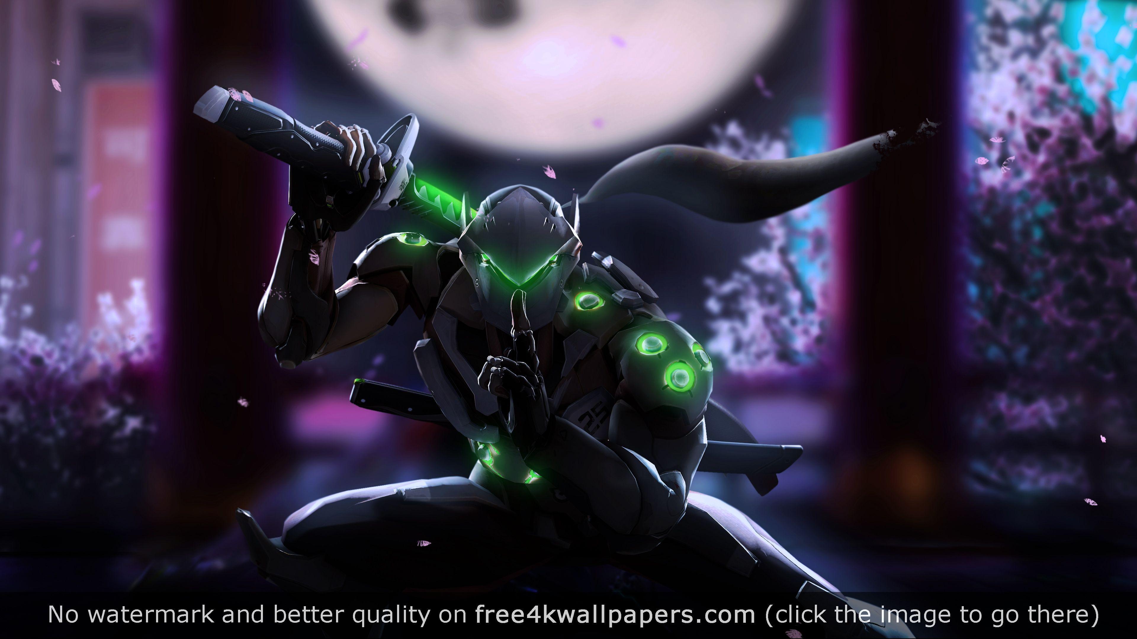 Genji Overwatch 4K 4K wallpaper