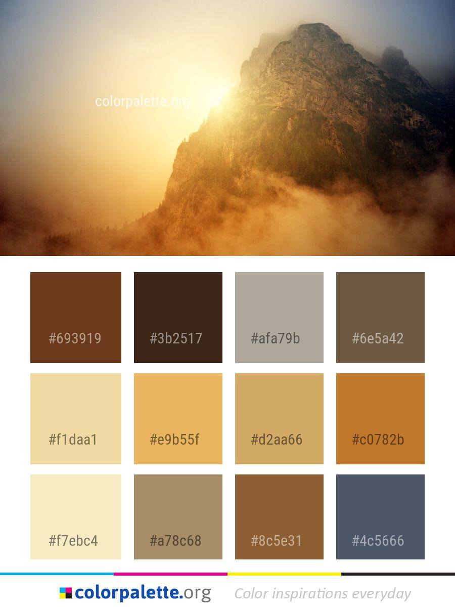 Sky Mountainous Landforms Mountain Color Palette Colors Inspiration Graphics Design In Color Palette Yellow Seeds Color Palette Design Seeds Color Palette