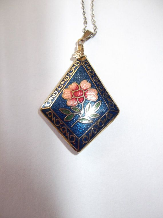 Beautiful Blue Vintage Cloisonne necklace by LulusTreasureChest, $20.00