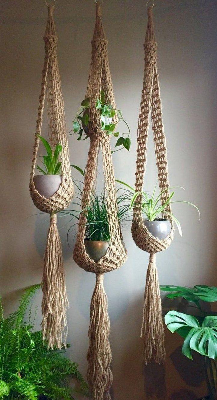 Plant Hanger Pflanzenhänger Rede faça você mesmo
