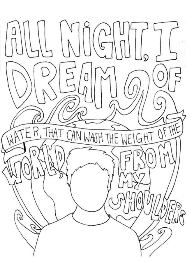 I Draw Band Lyrics Photo Panic At The Disco Lyrics Love Coloring Pages Of Mice And Men