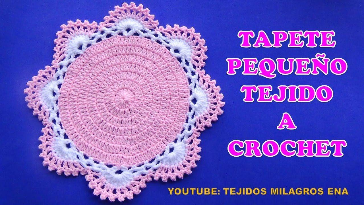 Como hacer un Tapete pequeño tejido a crochet para colocar Adornos o ...