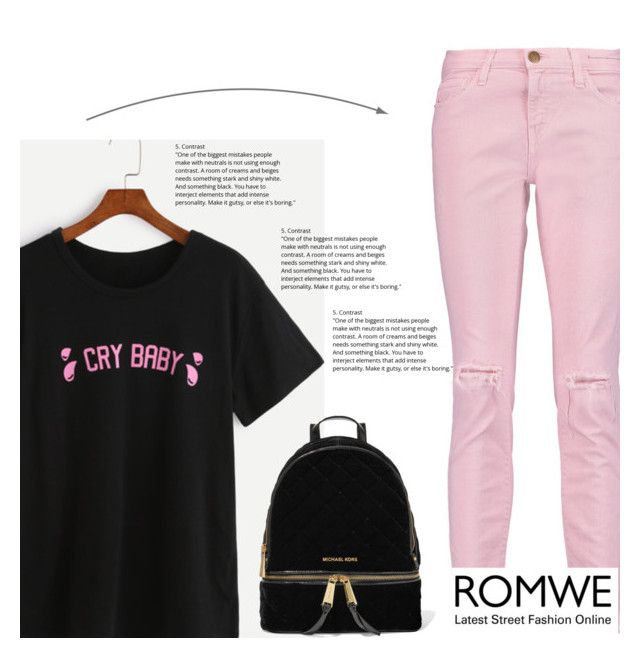"""""""Romwe contest"""" by mell-2405 ❤ liked on Polyvore featuring Current/Elliott and MICHAEL Michael Kors"""