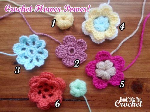 Crochet Flower Power 6 Free Patterns Crochet Flower Patterns