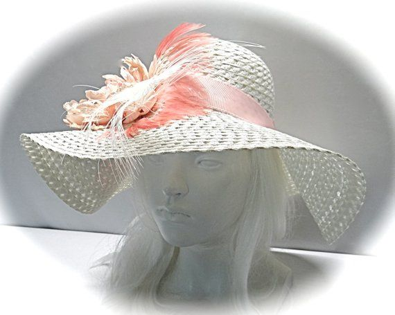 8092280dacd Ladies Sun Hat Pink Kentucky Derby Mother of the Bride DH-137 ...