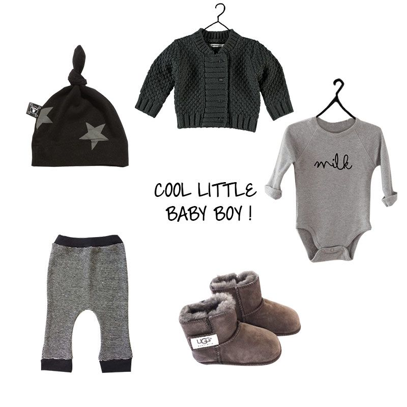 BABY BOY !!! Cardigan by Imps & Elfs - Hat by NuNuNu - Body by Organic Zoo - Pants by Piu et Nau - Shoes by UGG Australia
