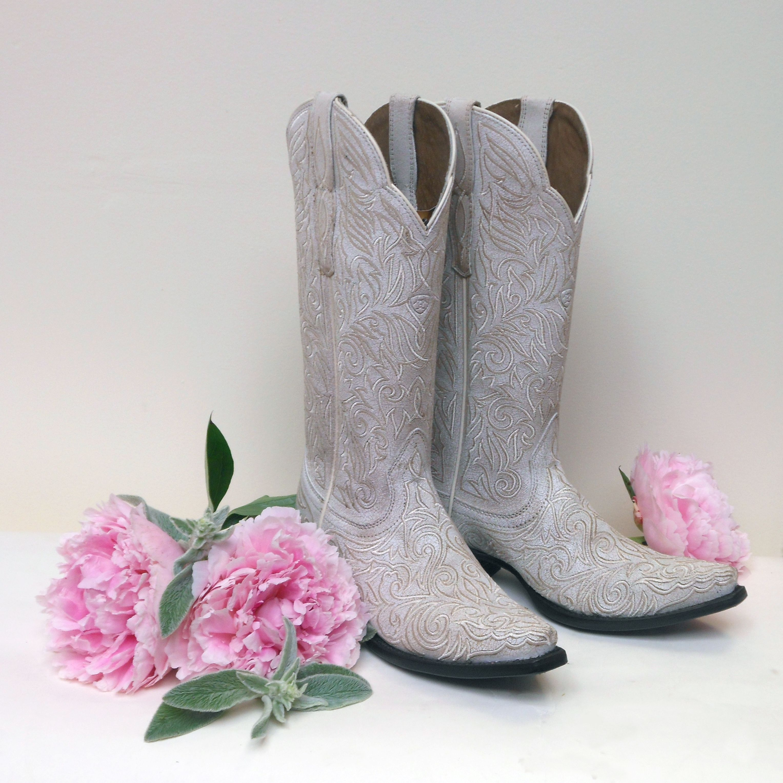 Ariat sterling western wedding boots white western