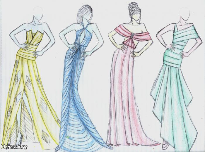Fashion Designs Dresses Sketches 2015 2016 Vestidos