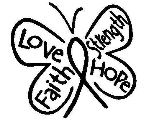 Details About Faith Hope Love Strength Butterfly Vinyl Decal - Butterfly vinyl decals