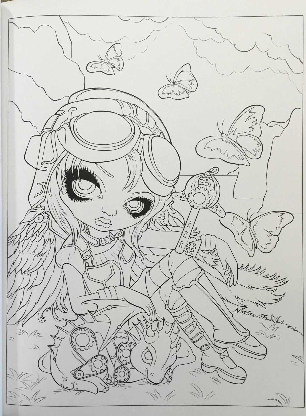 32 Jasmine Becket Griffith Coloring Book In 2020 Coloring Books Becket Anatomy Coloring Book