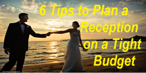 Are you or a friend planning a Wedding Reception? Read my 6 tips on How to Plan a Wedding Reception on a TIGHT Budget! I used to be a top wedding planner that had to quit after my 3rd child and I tell you my top tips for saving money and still having a beautiful reception. Pass this onto your friends that are engaged or use these tips for your reception.