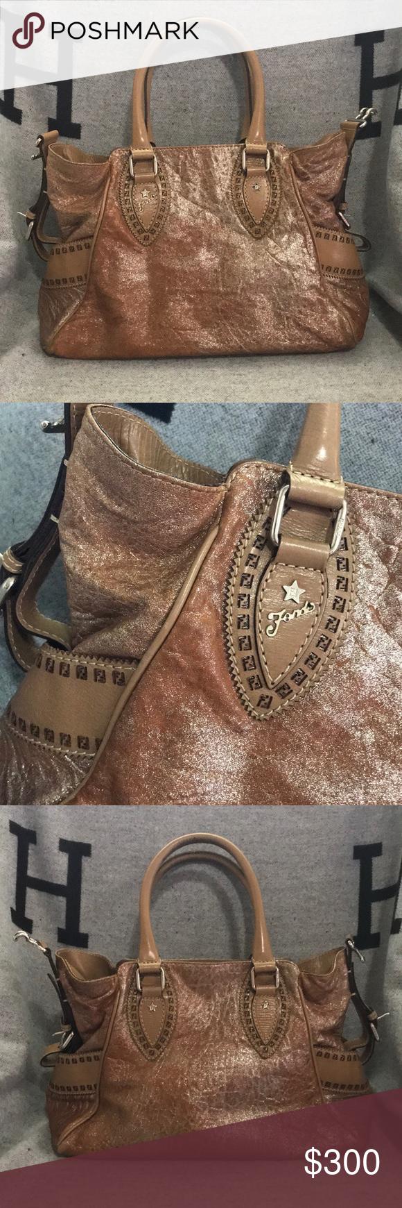 FENDI Silver shimmer Du Jour bag Gorgeous gorgeous Satchel in good used  condition. Fendi Bags Satchels 88e56d5ced