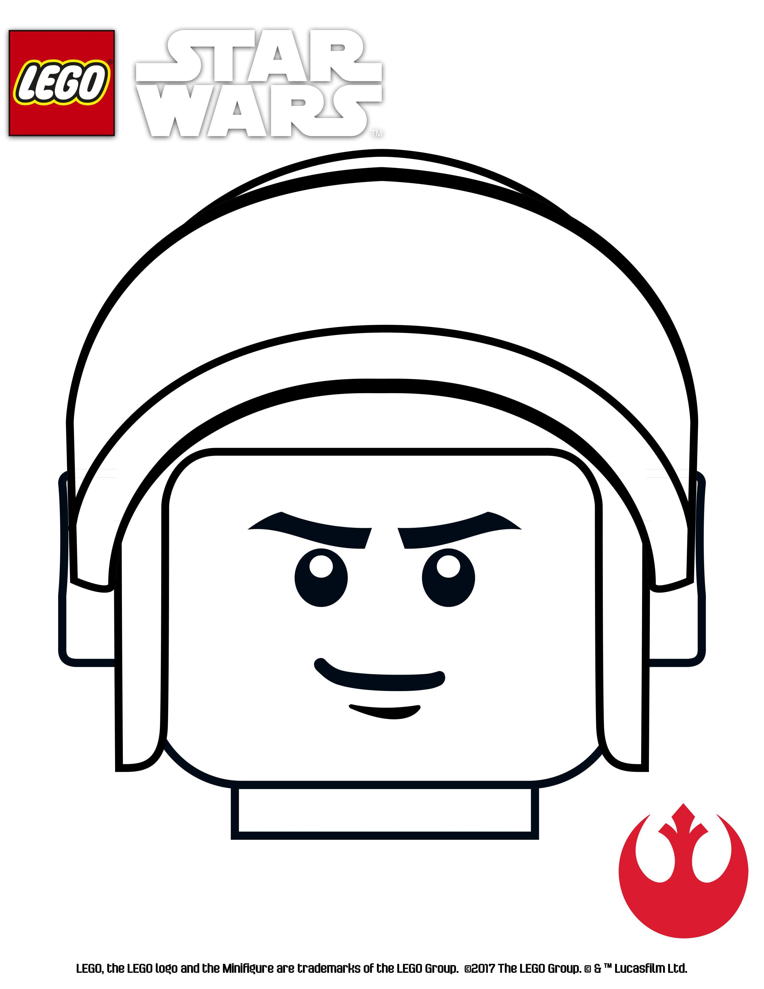 LEGO Star Wars coloring page - Red Suadron | Star Wars | Pinterest ...