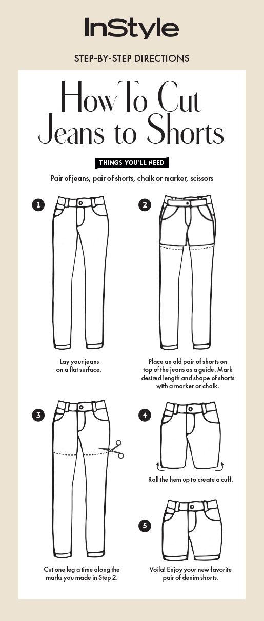 how to make jeans into shorts
