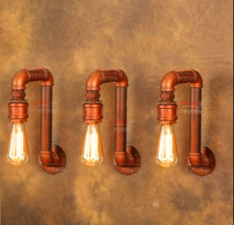Iwhd Water Pipe Retro Vintage Ceiling Light Fixtures: American Village Loft Industrial Edison Style Vintage Wall
